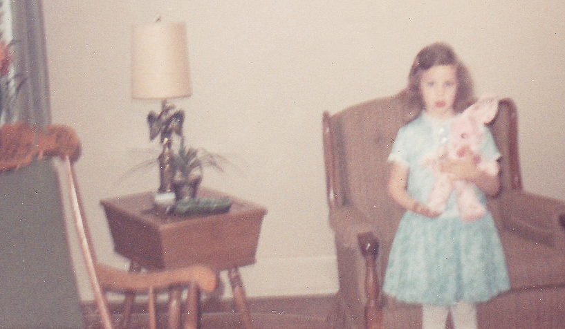Me with Easter Dress and Bunny.jpg